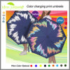 Neues Produkt-automatischer faltender Farben-ändernder Regenschirm