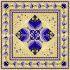 Escuro - telha de cristal muçulmana azul do enigma da porcelana para o quarto da oração