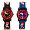 Jnew scherza l'orologio con il quarzo Analog impermeabile multicolore 3ATM del reticolo del fumetto 3D per i ragazzi e le ragazze