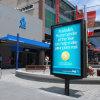 Двойное бортовое напольное крытое Mupi рекламируя Signage индикации светлой коробки