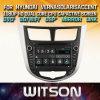De Vensters van Witson zenden StereoSpeler DVD voor het Accent 2010 2012 van Hyundai Verna Solaris via de radio uit