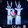 옥외 크리스마스 훈장을%s 백색 조각품 말 빛