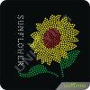 Il Rhinestone dei fiori di Sun trasferisce la pressa di calore