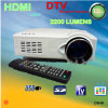 Projetor do diodo emissor de luz do teatro Home e DVB-T com USB+Card Reader+ HDMI + Scart + YPbPr + TV+ AV+ S-Video+VGA