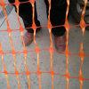 Rete fissa di plastica d'avvertimento arancione della maglia della barriera