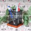 Conteneur en bois carré de crayon lecteur de métal non précieux (BT-003)