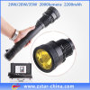 diodo emissor de luz Flashlight Torch Lighter de 20With28 With35W HID