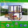 Salon/Movable/conteneur maison préfabriquée, 2 étage maison préfabriquée en conteneur