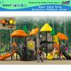 Laranja Plástico e Estrutura de aço ao ar livre para crianças Playground (HD-1301)