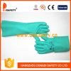 Gants verts de nitriles de longs de manchette de Ddsafety gants résistants chimiques élevés de confort