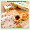 Grado Alimenticio Papel de cera impresa en hojas para embalaje de alimentos