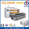 Zq-H600 máquina de papel de papel higiénico de relleno completo, perforación y rebobinado