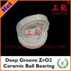 Cuscinetto a sfere di ceramica profondo della scanalatura Zro2
