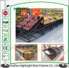 Cremalheira da fruta e verdura da prateleira de indicador da fruta do supermercado