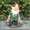 Повседневная жизнь Сцена Gnome Garden смолы фигурка с ведрами (NF360029)