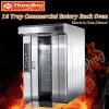 16 Tellersegment-Brot-Maschinen-Gas-Drehofen-Preis für Backen-Produktionszweig