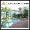 Edelstahl-guter Swimmingpool-Glaspanel-Schienen-Zaun-Zapfen