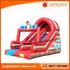 Diapositiva con Firetruck inflable para el juego al aire libre (T4-504)