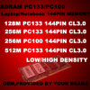 Sdram Laptop/Notebook Memory 144pin PC133 (Sd 128M 256M 512M 3.3V PC133)