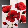 Pittura a olio della riproduzione del fiore del papavero (KLFL3-0098)