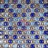虹色の円形のクリスタルグラスのモザイク・タイル(CFR627)