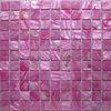 메시 (CFM-PI-SQ25)에 염색된 분홍색 민물 포탄 모자이크