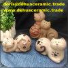 mini regalo di seduta di ceramica antico della decorazione delle statue del Figurine del giardino del gatto dB1056