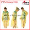 Impermeabile di plastica, cappotto di pioggia lungo del PE (YB-2115)