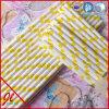 Pailles réutilisables de papier jaunes de plastique de pailles des pailles PRTY d'Eco de pailles