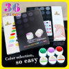 3688W Nail Art Professional Nail Gel Product Gdcoco 6 Pure Color Soak weg von UVColor Gel