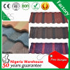 Telha de telhado revestida do metal da pedra de aço ondulada colorida da folha da telhadura do alumínio para a venda