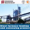 Projeto vertical do sistema de transporte de correia MPE da planta de aço