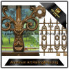 Panneau de clôture en métal solide en aluminium pour la sécurité de jardin avec une haute qualité