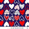 Sweet Heart Printing 80% Nylon 20% Tecido Spandex para Swimwear