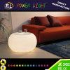 Mobiliário de salão iluminado LED RGB mesa de café de plástico