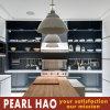 Verniz de alto brilho branco moderno Madeira armário de cozinha