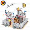 Blocs de plastique de modèle de chevalier de château pour des gosses