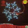 Indicatore luminoso della corda di motivo della stella Pendant bianca calda del fiocco di neve del LED 2D per la decorazione della festa di Natale