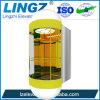 Elevador de cristal transparente de visita turístico de excursión de la observación de la elevación 1000kgs del semicírculo