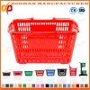 Beweglicher Supermarkt-Lebensmittelgeschäft-Kleineinkaufskorb mit Metallgriffen (Zhb102)