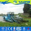 Quitar malas hierbas acuáticas y las algas en los estanques y lagos con la cosechadora de malezas acuáticas