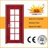 Porta da madeira contínua de boa qualidade com vidro (SC-W061)