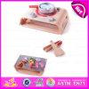 2015 Kids деревянные кухонные играть и учиться игрушкой, претендует на барбекю и кухонные наборы, DIY деревянной кухни игра Toy W10c151
