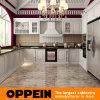 Keukenkast van de Fabrikant van Guangzhou de Klassieke Witte Stevige Houten In het groot (OP16-S01)