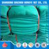 녹색 비계 HDPE에 의하여 뜨개질을 하는 건축 안전망
