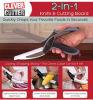 Cortador inteligente 2 em 1 cozinha do aço inoxidável das tesouras da faca de cozinha & da placa de estaca