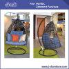 Mobilia d'attaccatura dell'oscillazione del rattan esterno di lusso del patio, grande mobilia di vimini rotonda (J3588)