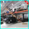 Sistema do estacionamento do dobro do porão do edifício