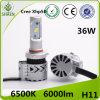 LED 차 헤드라이트 최신 제품 36W 6000lm