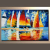 Abstract Olieverfschilderij Decorative van Seascape